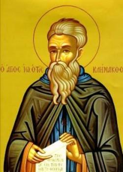na 4 nedeľu Veľkého pôstu Ctihodneho Jána Sinajskeho